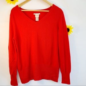 Covington Red 100% Cashmere Sweater Size L/G.